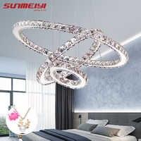 Lámpara de araña de Cristal LED moderna para candelabros de Cristal para sala de estar
