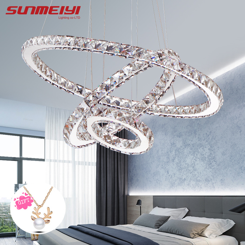 Modern LED Crystal Chandelier Lights Lamp For Living Room Cristal Lustre Chandeliers Lighting Pendant Hanging Ceiling FixturesModern LED Crystal Chandelier Lights Lamp For Living Room Cristal Lustre Chandeliers Lighting Pendant Hanging Ceiling Fixtures