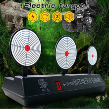 3 Plate Automatic Reset shot Shooting target Electromotor Score Target for All font b Toy b