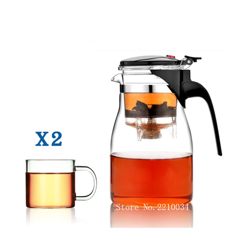 Authentic Taiwan Drinkware Tea Set Teapot Heat-resistant Glass Tea Pot with Filter Clear 500/750/900 Ml Kung Fu Tea Elegant Cup