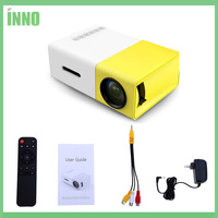 2pcs YG 300 LCD Portable Projector Mini 400 600LM 1080p Video 320 X 240 Pixels Media