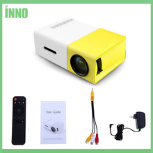 2pcs YG - 300 LCD Portable Projector Mini 400 - 600LM 1080p Video 320 x 240 Pixels Media LED Lamp Player Best Home Protector