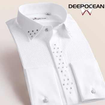 Deepocean Brand Shirt Men Formal Shirts Fashion New Long Men's Shirt Men Tops Multicolor 9XL Camisa Masculina Shirts DaDDX55533L - DISCOUNT ITEM  20% OFF All Category