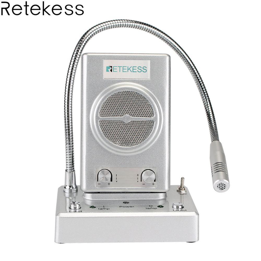 Retekess TW102 3W Dual Way Window Counter Intercom Interphone System Dual-way Counter Interphone For Bank Office Store F9461D