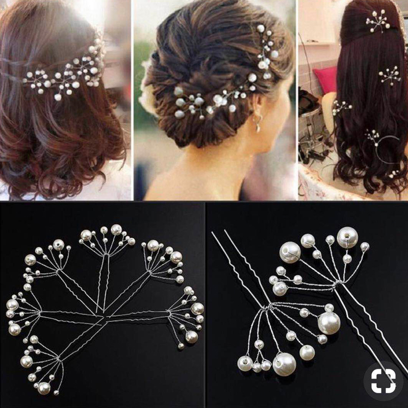 M MISM 2019 Modis Women Flower Hair Accessories For Wedding Bride Elegant Floral Crystal Hair Sticks For Girls Hair Jewelry(China)