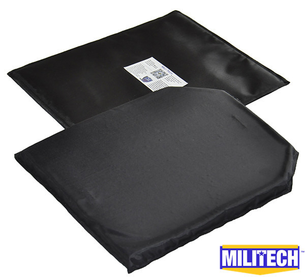 MILITECH 10'' x 12'' T&SC Cut Pair Aramid Ballistic Panel Bullet Proof Plate Inserts Body Armor Soft Armour NIJ Level IIIA 3A
