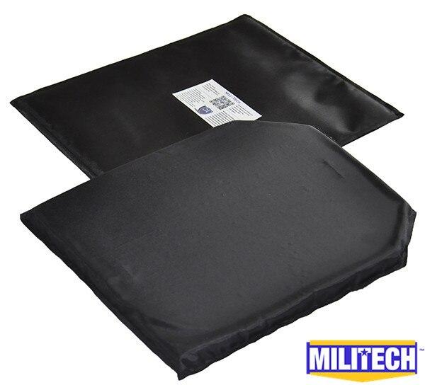 MILITECH 10 ''x 12'' T & SC вырезать пару арамидных баллистических Панель пуленепробиваемые пластины вставки Body Armor мягкие доспехи NIJ уровень IIIA 3A