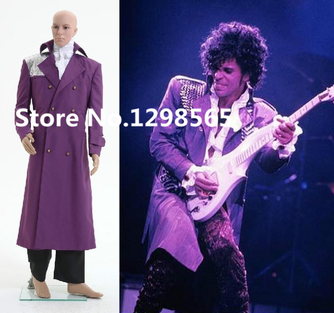 Customized movie song Purple Rain Prince Rogers Nelson Clothes Coat Shirt Pants Outfits Adult Cosplay Costume