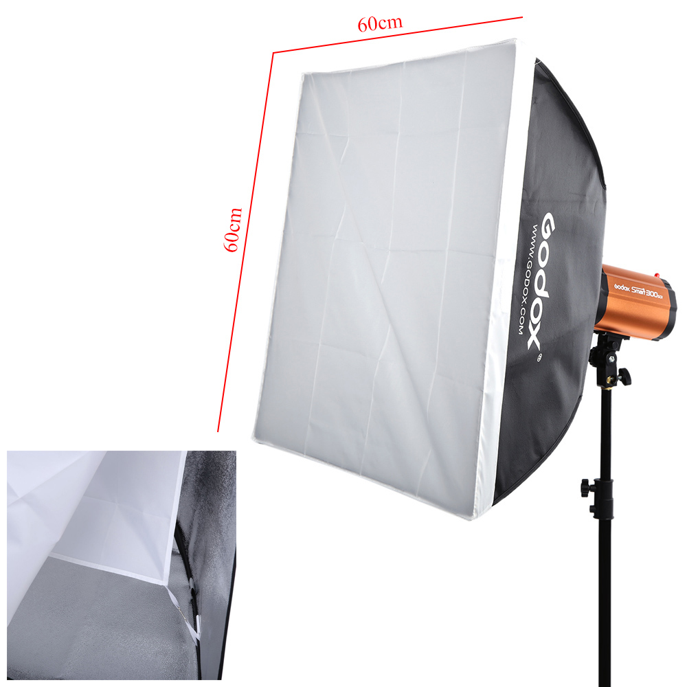 Godox 300SDI Professional Photography Lighting Lamp Kit Set with Light Stand Softbox Barn Door Trigger 300W Studio Flash Strobe