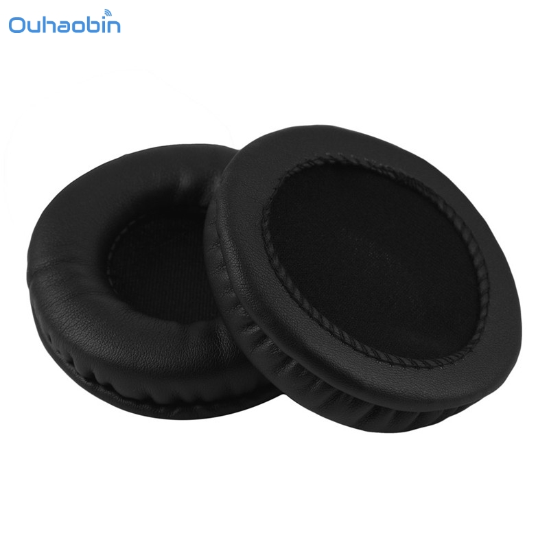 Ouhaobin Hot 1Pair Protein Leather Ear Pads Replacement Cushion 70MM for Headphones Soft Durable High Quality Black Earpad Sep5