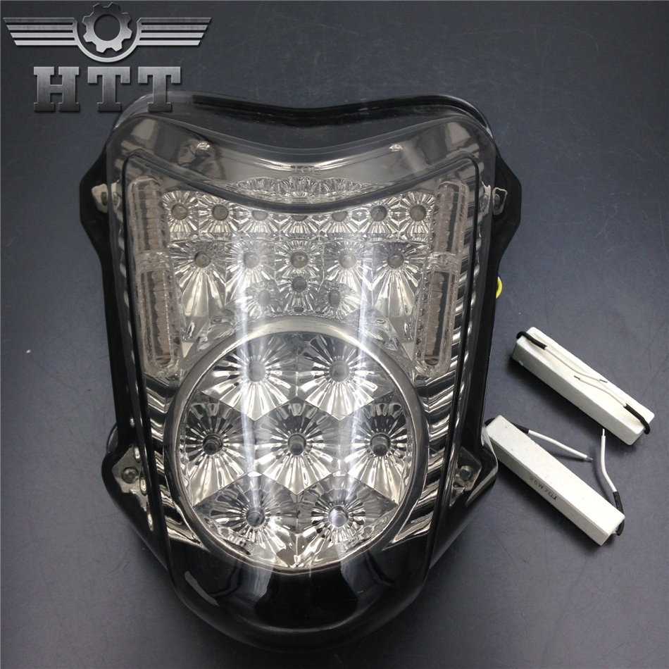 Aftermarket free shipping motorcycle parts LED Tail Brake Light Turn Signals for Suzuki 2008-2012 Hayabusa GSX1300R SMOKE aftermarket free shipping motorcycle parts eliminator tidy tail for 2006 2007 2008 fz6 fazer 2007 2008b lack