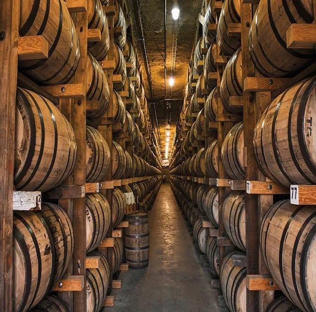 8x8ft Vintage French Paris Wine Cellar Wood Barrels Path