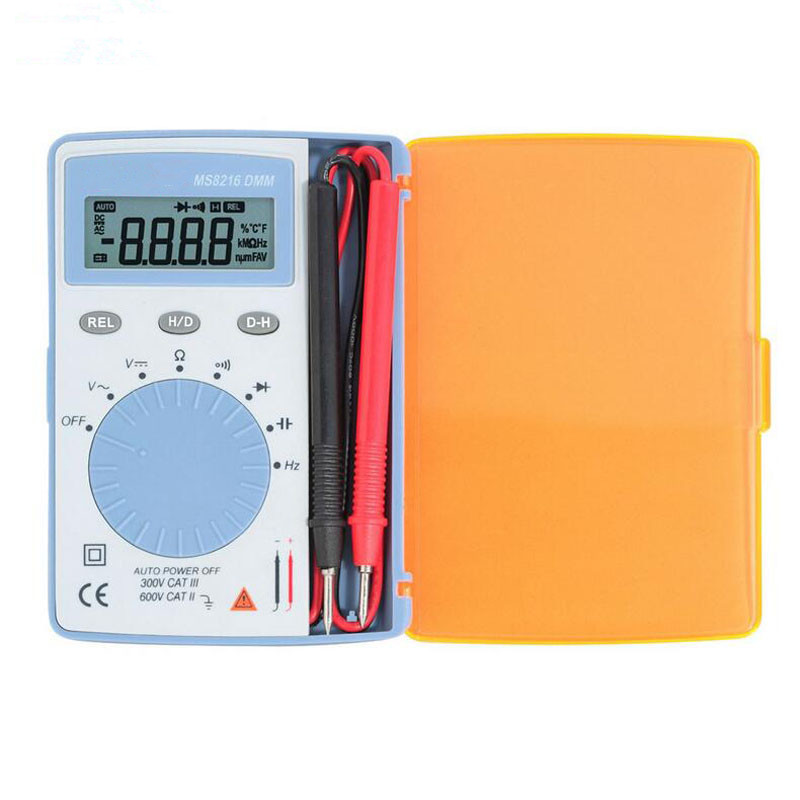 Hot Sale Handheld Digital Multimeter MS8216 Data Hold 4000 Counts Autoranging High Accuracy LCD AC/DC Voltage DMM Diode Meter my68 handheld auto range digital multimeter dmm w capacitance frequency