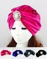 Velvet Flapper stone jeweled Stretch Full Turban Headband Great Gatsby Ear Warmer Hat VT-22