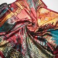 90 cm * 90 cm 2016 Novos Chegada Mulheres Vincent van Gogh Pintura A Óleo casa de café tamanho grande lenço de seda das mulheres xales menina wraps NOVA