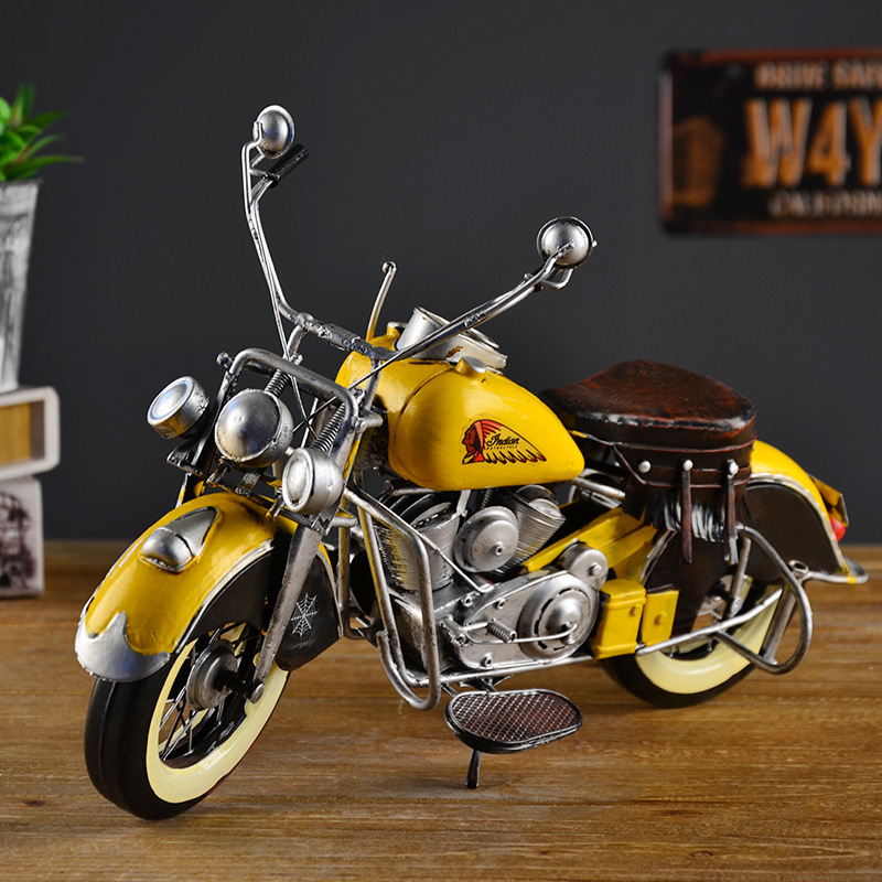 Style rétro Autobike modèle Moto vélo vitrine Moto Moto fer blanc cadeau présent Souvenir Film Shoot accessoires