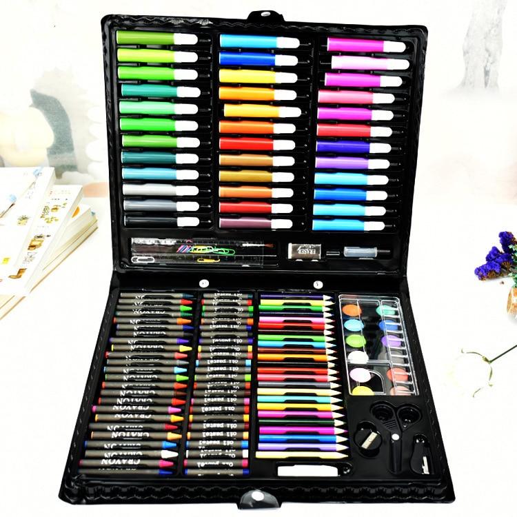 2018 vente Faber Castel élèves 150 pièces enfants peinture outils boîte cadeau brosse aquarelle stylo costume spécial papeterie WJ-XXWJ374-