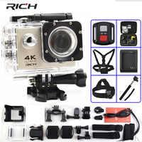 """Caméra d'action riche F60/F60R Ultra HD 4 K/30fps WiFi 2.0 """"170D go casque Cam pro caméra de Sport étanche sous-marine"""