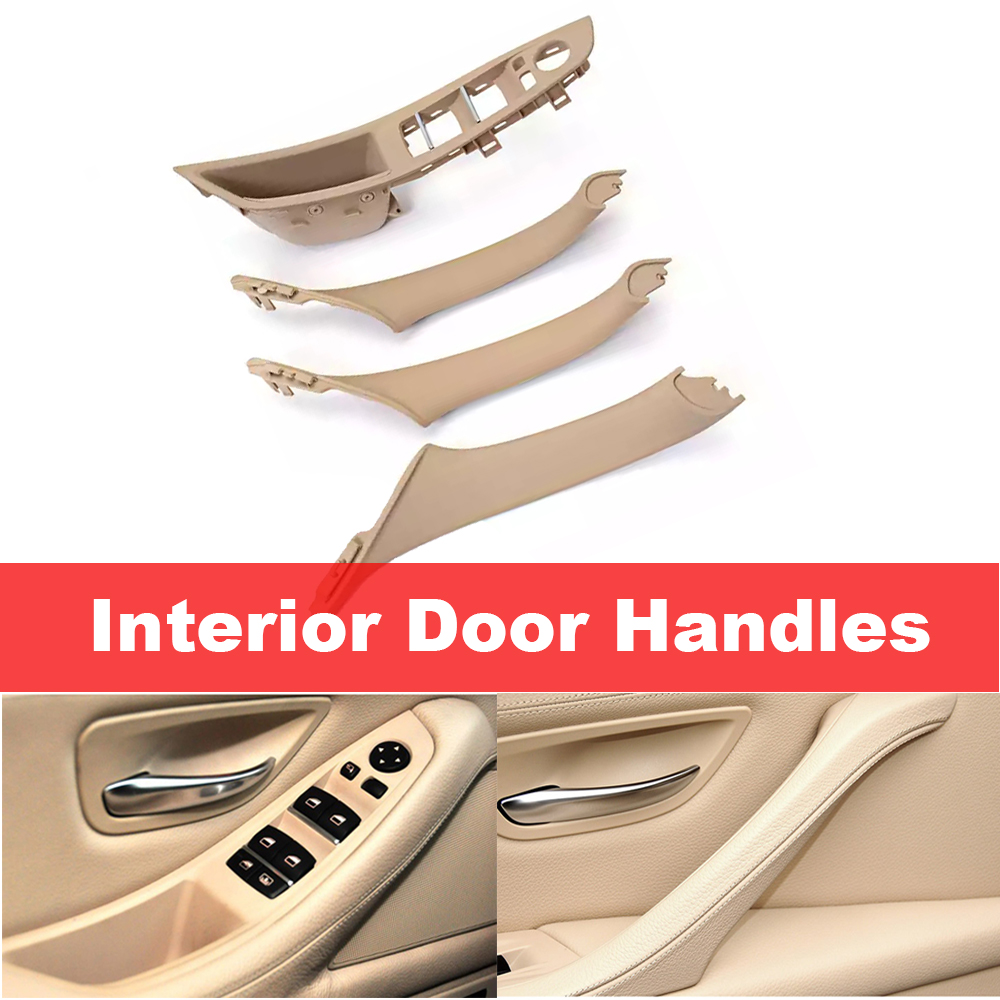 Car Inner Interior Window Switch Door Panel Handle Armrest Pull Cover Trim Kit for BMW 520 523 525 530 535 For Left Hand Driver