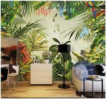 Custom 3d photo wallpaper wall murals Tropical rainforest plant banana background home decoration