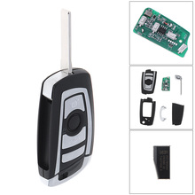 купить 433MHz 4 Buttons Car Keyless Remote Key Fob ID44 / PCF7935 Chip HU92 for BMW EWS 325 330 318 525 530 540 E38 E39 E46 M5 X3 X5 онлайн