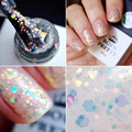 1 Bottle 10ml Fashion Born Pretty White Nail Polish UV Gel Sequins Soak Off UV Varnish