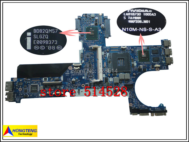 ФОТО original 594026-001 Laptop Motherboard for HP 8440P QM57 Non-integrated Nvidia VGA DDR3 100% Test ok