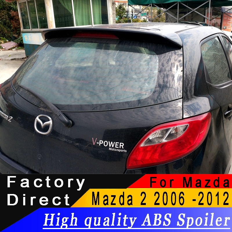 For Mazda 2 M2 2006 to 2012 hatchback car Rear wing spoiler high quality ABS Material