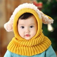 Perro encantador niño niña unisex niños Otoño Invierno warm Beanie sombrero  con capucha bufanda earflap knit 2e0d00bf86d