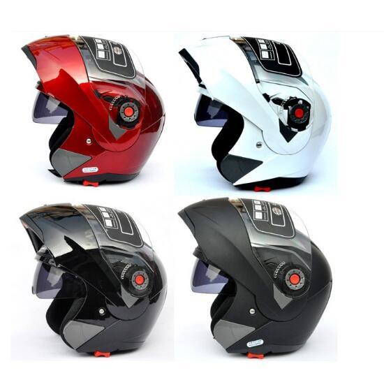 JIEKAI 105 casques de moto double visière modulaire cache casque de motocross course Double Capacete objectif casque de moto navire