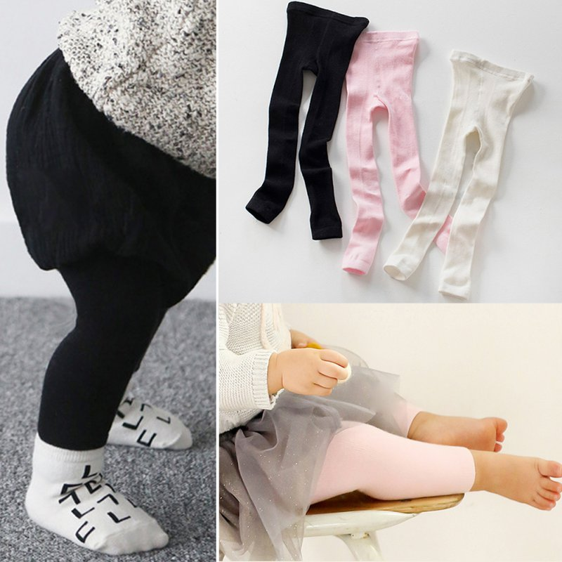 Hot Baby Trousers Kids Child Leg Warmers Toddler Infant Boys Girls Skinny Pants Leggings White Black Pink