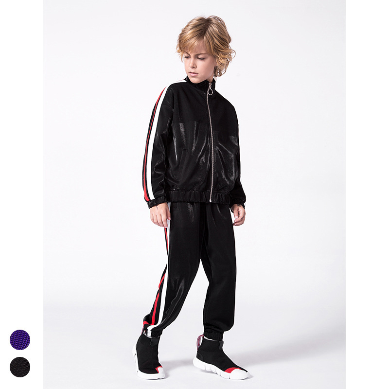 Cool Boys Tracksuits 2 pieces Striped Clothing Set Autumn ...
