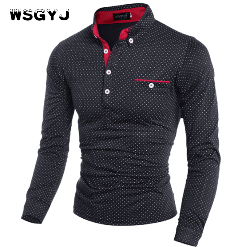 Wsgyj mens polo shirt brands 2017 male long sleeve fashion for Expensive polo shirt brands