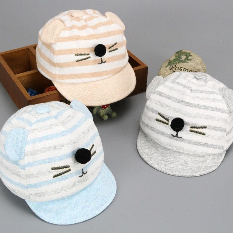 Baby Hat Cute Infant Kids Bongrace Hat Peak Smiling Face Wave Point Baseball Cap Sunhat L327 Hats & Caps