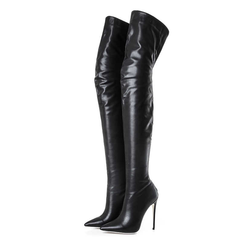 858716ecee2 Fashion long boots for women pu soft leather sexy stovepipe long boots over  the knee high heels women boots high heel long boots