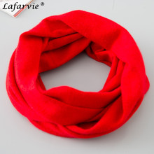 Lafarvie Womens Autumn Cashmere Blend Knitted Ring Scarves Fashion Solid Color Warm Comfortable All-Match Bufandas