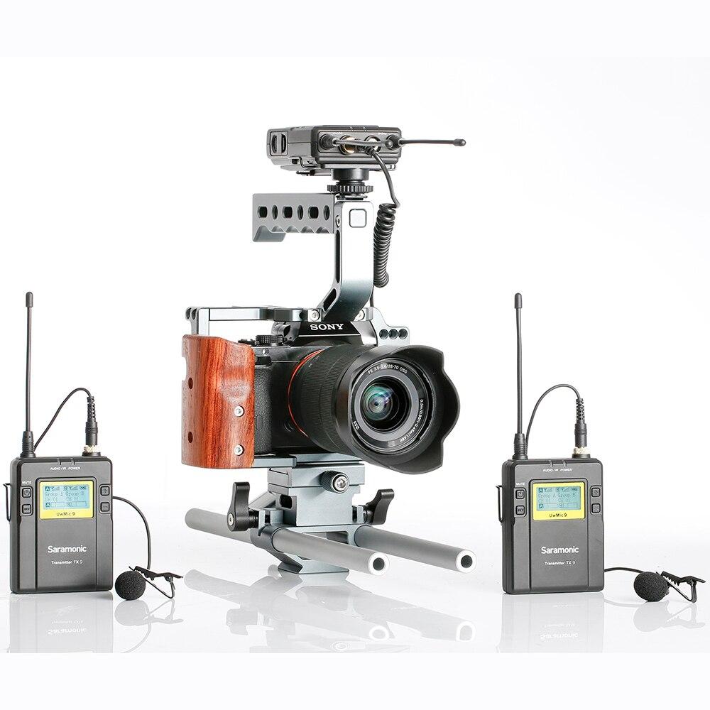 Saramonic UWMIC9 Trasmissione UHF Macchina Fotografica Senza Fili Microfono Lavalier Sistema Trasmettitori + Un Ricevitore per la Videocamera Portatile DSLR - 6