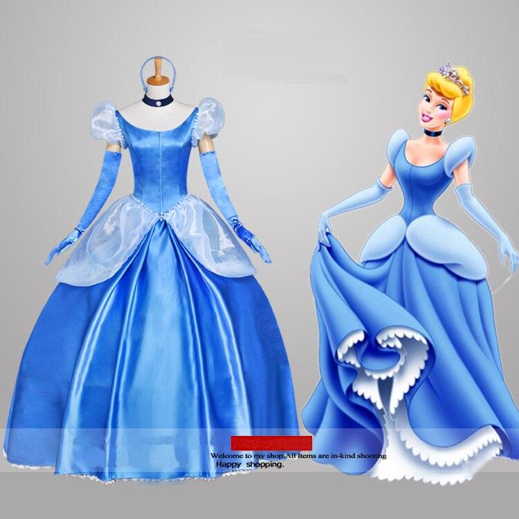 cinderella cosplay costume for girls princess party dress for adult cinderella dress rapunzel dress fairy fancy dress Custom