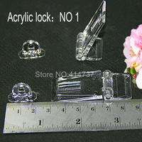 Arcylic Door Hinge Locker Hasp Lock Clear Handle Show Exhibition Cabinet Cupboard Electronic Jewel Advertise Clear