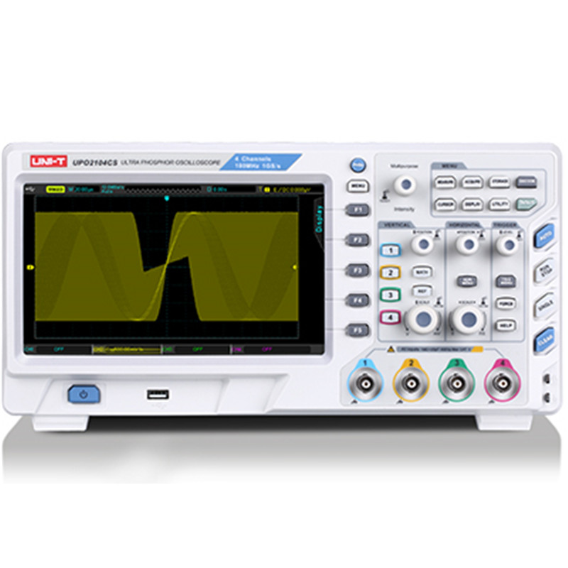 UPO2104CS Ultra Phosphor Oscilloscope 4 Channels 100 MHz Bandwidth 1GSa/S 50,000wfms/s Memory Depth 28Mpts USB LAN Interface