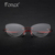 2017 do vintage da moda para as mulheres/feminino olho de gato óculos de memória óculos sem aro titanium miopia quadro ótico eyewear silhouett