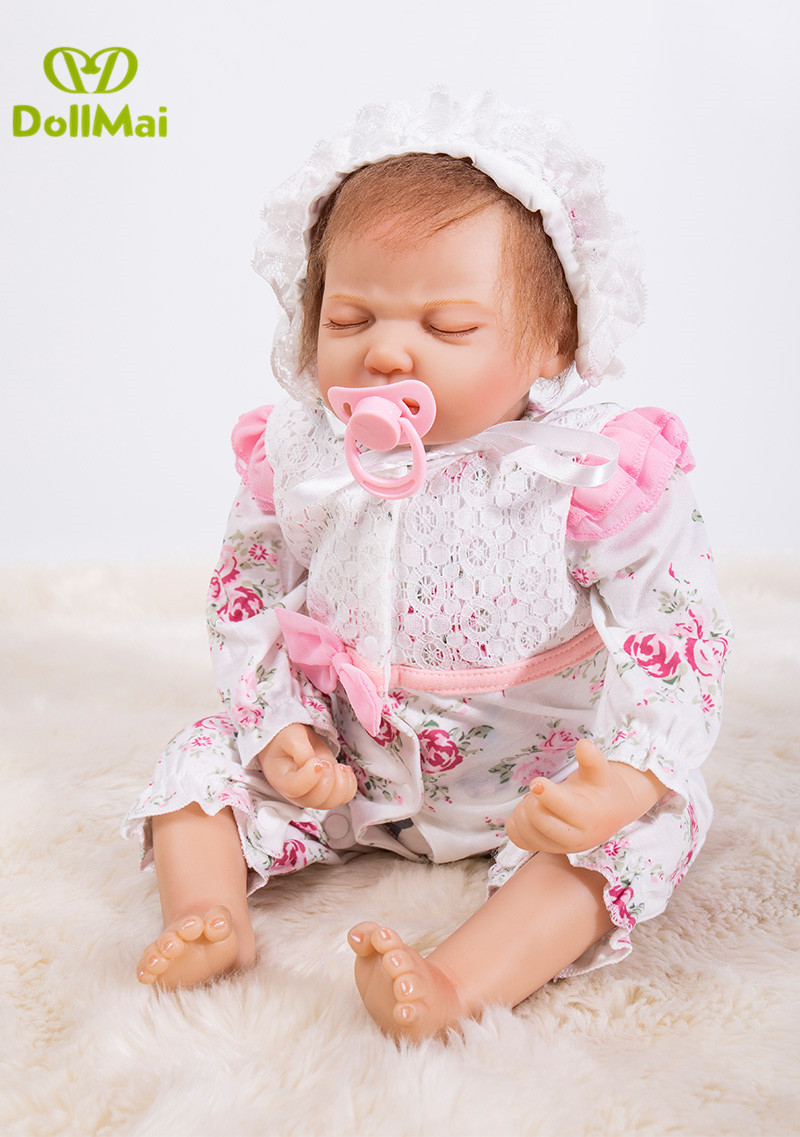 53cm Reborn Baby Doll Lifelike sleeping baby handmade play house sleeping Doll For Children Birthday Xmas Gift Free Shipping53cm Reborn Baby Doll Lifelike sleeping baby handmade play house sleeping Doll For Children Birthday Xmas Gift Free Shipping