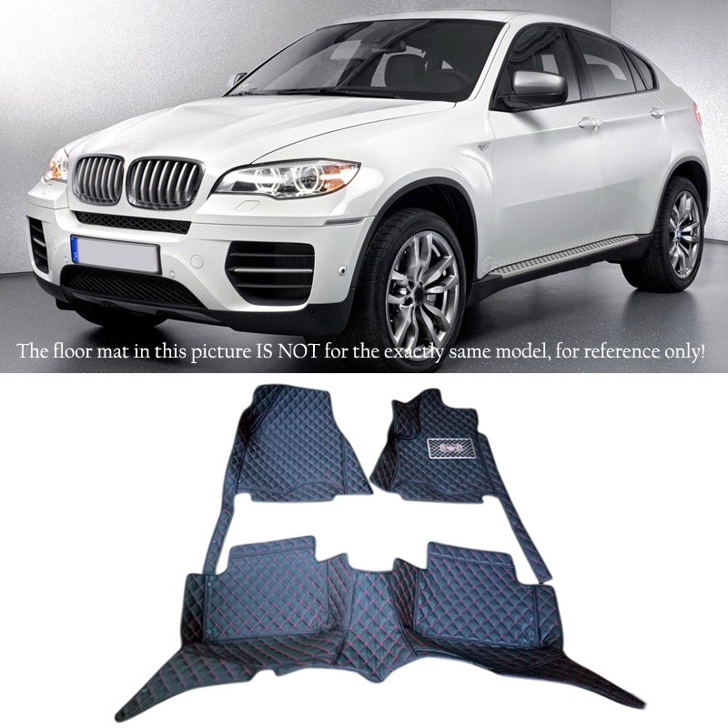 For BMW X6 E71  2008  2009 2010 2011 2012  2013 2014  Accessories Interior Leather Carpets Cover Car Foot Mat Floor Pad 1set car rear trunk security shield shade cargo cover for nissan qashqai 2008 2009 2010 2011 2012 2013 black beige