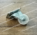 4 unids/lote goma de nylon 23.5 mm rueda giratoria / rueda universal para mobiliario / sillas / mesas