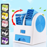 Mini USB Portable Air Conditioner Humidifier Purifier 6 Colors Light Desktop Air Cooling Fan Air Cooler Fan For Office Room