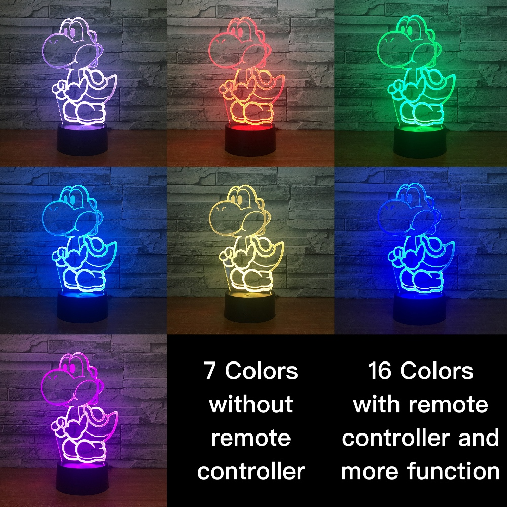 Game Mario Yoshi Egg Kids Nightlight For Child Bedroom Decorative 3d Lamp Battery Powered Usb Table Cool Baby LED Night Light