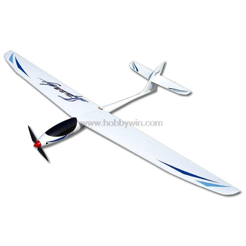 Planeur électrique rapide avion RC 1600mm 62.99in envergure quai avec moteur hélice Spinner Esc Servo RC en fibre de verre planeur