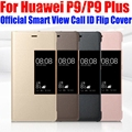 Caso de HUAWEI P9 PLUS Original 1:1 oficial Smart View caso ID de llamada cubierta de tirón de cuero para HUAWEI P9/ p9 Plus: p91