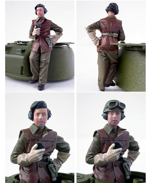Assembly Unpainted  Scale 1/35   British Stand Man Tanker Figure Historical  Resin Model Miniature Kit