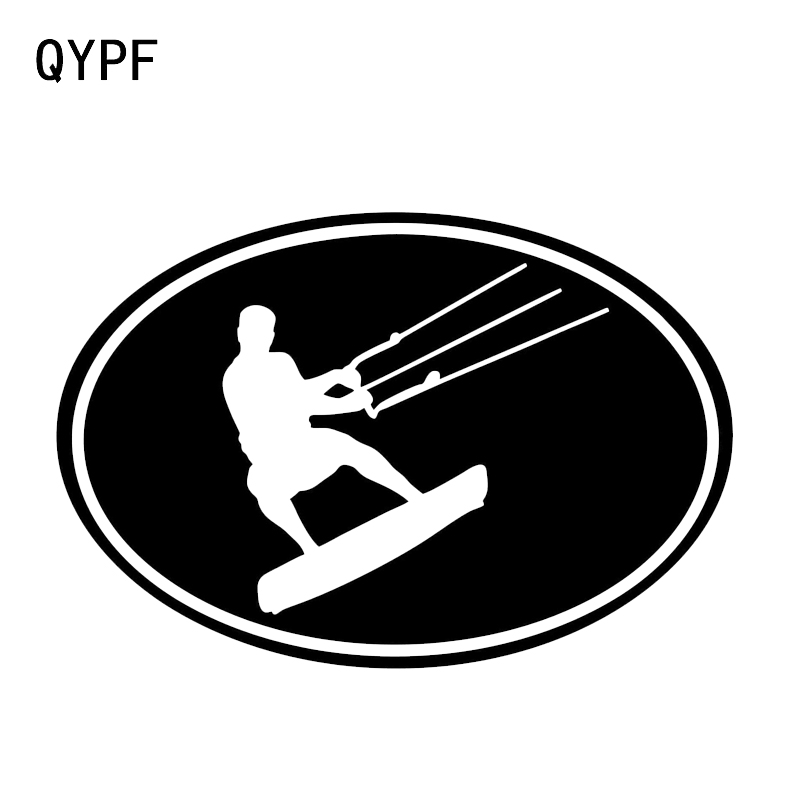 QYPF 16.6*11.2CM Fashion KITE Surf Freestyle Decal Car Styling Sticker Vinyl Silhouette  Accessories C16-0681